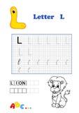 Alphabet, lion Stock Photos