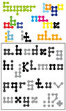 alphabet for logo creation Royalty Free Stock Photos