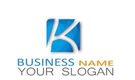 Alphabet Logo Design in blue rectangular shape square Stock Photos
