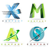 Alphabet logo letters Royalty Free Stock Photography