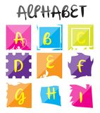 Alphabet Logo Set Illustration Photos stock