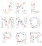 Alphabet Lorem ipsum Stock Image