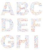 Alphabet Lorem ipsum Royalty Free Stock Photos