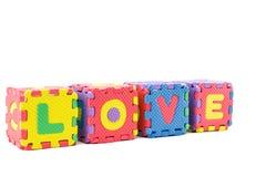 Alphabet love learning blocks Royalty Free Stock Photo
