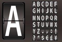 Alphabet mécanique de panneau Image libre de droits