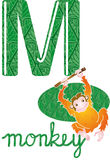 Alphabet m stock images