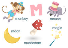 Alphabet M. Illustration of alphabet m set royalty free illustration