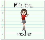 Alphabet  M is for mother Royalty Free Stock Image