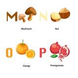 Alphabet M-P Royalty Free Stock Image