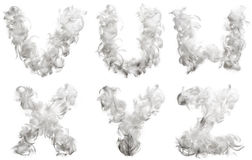 Alphabet made ​​of feathers Royalty Free Stock Image