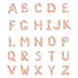 Alphabet made from abstract wave. For your design Stock Photo