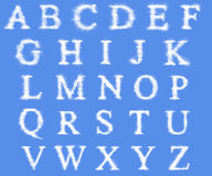 Alphabet made from Clouds Royalty Free Stock Photography