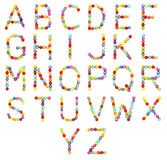 Alphabet made of colorful beads Stock Photo