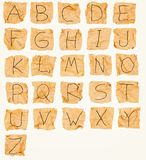 Alphabet. Made of crumpled paper Royalty Free Stock Photo