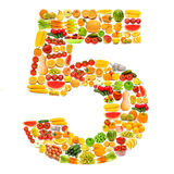Alphabet made of  fruits and vegetables Royalty Free Stock Photography