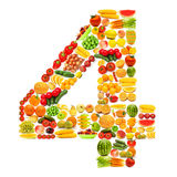 Alphabet made of   fruits and vegetables Royalty Free Stock Images
