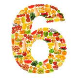 Alphabet made of   fruits and vegetables Royalty Free Stock Photo
