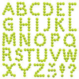 Alphabet made of green apples Royalty Free Stock Photos