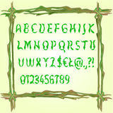Alphabet made of leaves vector Royalty Free Stock Photography