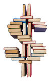 Alphabet made out of books, dollar sign Royalty Free Stock Photo
