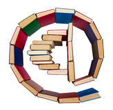 Alphabet made out of books, e-mail symbol Stock Images