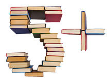 Free Alphabet Made Out Of Books, Figures 5 And Plus Royalty Free Stock Images - 42240149