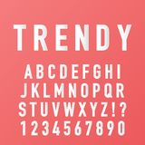 Alphabet made with trendy paper font vector vector illustration