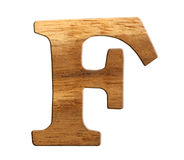 Alphabet made from wood Stock Photography
