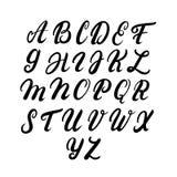 Alphabet majuscule écrit par main Images libres de droits