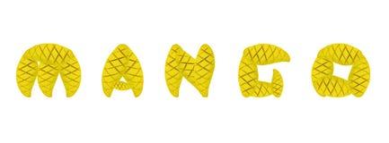 Alphabet mango fruit Royalty Free Stock Photography