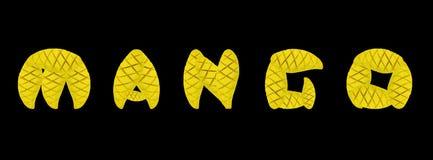 Alphabet mango fruit Royalty Free Stock Photos