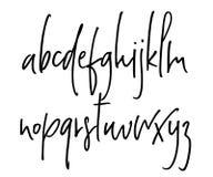 Alphabet manuscrit de vecteur de Ballpen Photos libres de droits