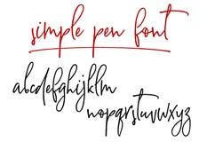 Alphabet manuscrit de vecteur de Ballpen Images libres de droits