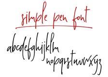 Alphabet manuscrit de vecteur de Ballpen Illustration de Vecteur