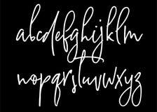 Alphabet manuscrit de vecteur de Ballpen Images stock