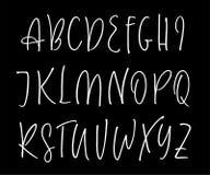 Alphabet manuscrit de vecteur de Ballpen Photographie stock libre de droits