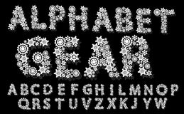 Alphabet mechanical gear white royalty free illustration