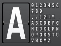 Alphabet of mechanical panel Stock Images