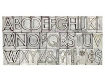 Alphabet in metal type Royalty Free Stock Photography