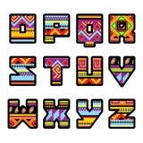 Alphabet mexicain (partie 2) illustration stock