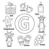 Alphabet mignon d'enfants de vecteur illustration stock