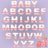 Alphabet mignon de chéri Photo libre de droits