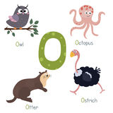 Alphabet mignon de zoo illustration libre de droits