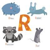Alphabet mignon de zoo illustration de vecteur
