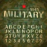 Alphabet militaire de cru Photo stock