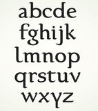 Alphabet minuscule Images stock