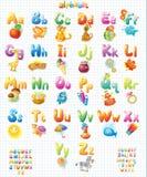 Alphabet mit Bildern für Kinder Lizenzfreie Stockfotos
