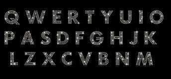 Alphabet mit Diamanten lizenzfreie stockfotografie