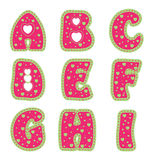 Alphabet mit Inneren Lizenzfreies Stockbild