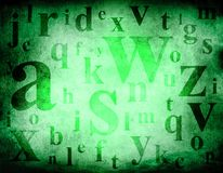 Alphabet mix grunge background Royalty Free Stock Photography